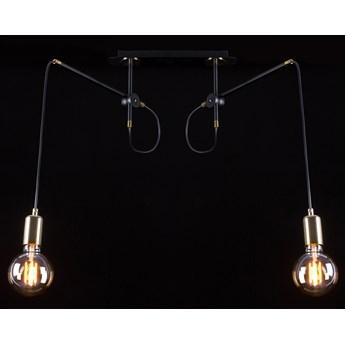 ARTEMIS 2 BLACK 480/2 lampa wisząca sufitowa loft regulowana złote elementy