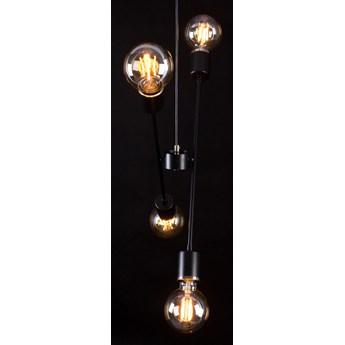 VENDERO 4 BLACK 347/4 oryginalna lampa wisząca regulowana wysokość czarna złote dodatki