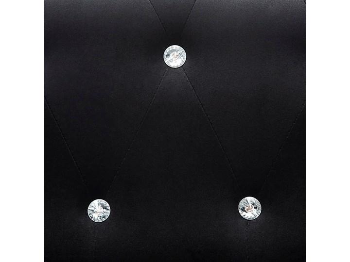 Aksamitny narożnik  w stylu Chesterfield Charlotte 4Q - czarny Szerokość 199 cm Wysokość 72 cm Szerokość 165 cm Szerokość 142 cm Wysokość 42 cm Typ Pikowane Styl Klasyczny
