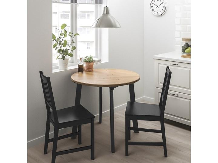 GAMLARED / STEFAN Stół i 2 krzesła Kolor Czarny