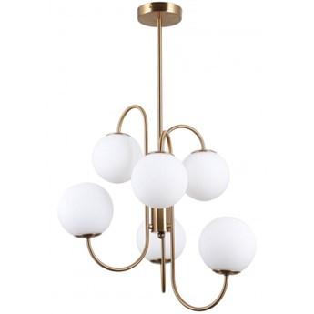 PND-5500-6-HBR GELA LAMPA SUFITOWA MOSIĄDZ SZKŁOIndustrialne i Retro ITALUX