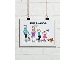 Plakat rodzinny personalizowany