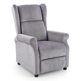 Fotel Agustin rozkładany tkanina - 2 kolory Popielaty Stopki