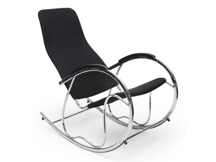Fotel bujany  Ben 2 czarny Tkanina Styl Klasyczny Głębokość 97 cm Szerokość 55 cm Drewno Wysokość 50 cm Styl Nowoczesny