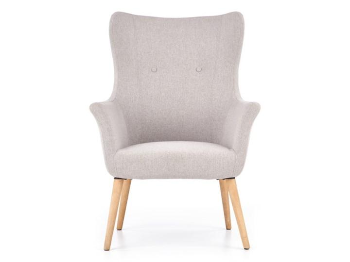 Fotel Cotto - 5 kolorów Jasny popiel Wysokość 99 cm Drewno Głębokość 76 cm Wysokość 43 cm Fotel uszak Tkanina Szerokość 73 cm Kolor Szary