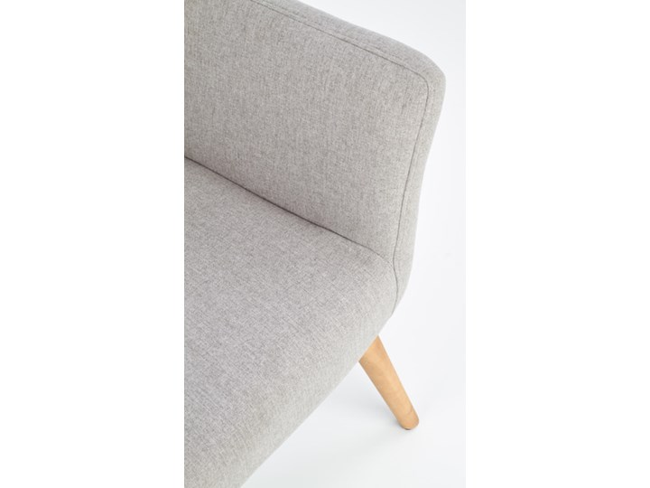 Fotel Cotto - 5 kolorów Jasny popiel Drewno Wysokość 43 cm Głębokość 76 cm Fotel uszak Tkanina Szerokość 73 cm Wysokość 99 cm Styl Klasyczny