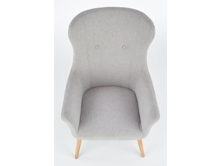 Fotel Cotto - 5 kolorów Jasny popiel Wysokość 43 cm Głębokość 76 cm Wysokość 99 cm Fotel uszak Drewno Tkanina Szerokość 73 cm Kolor Szary
