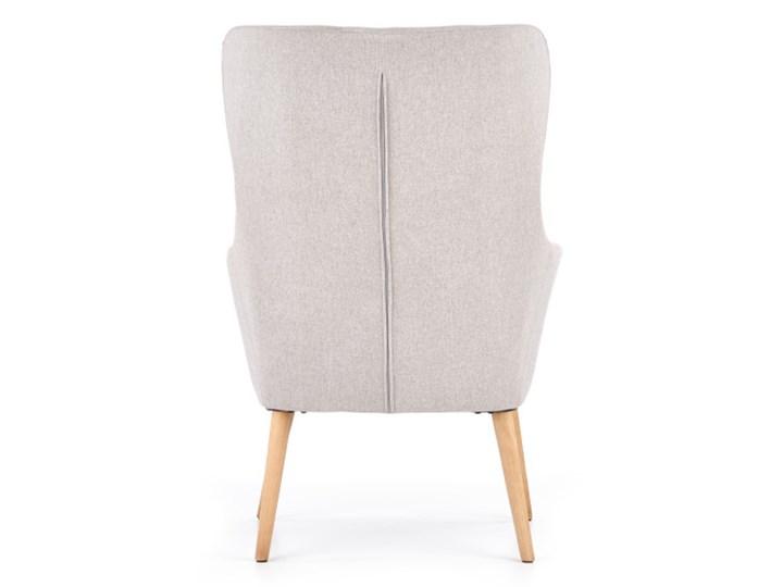 Fotel Cotto - 5 kolorów Jasny popiel Fotel uszak Głębokość 76 cm Drewno Szerokość 73 cm Wysokość 43 cm Wysokość 99 cm Styl Vintage Tkanina Kolor Szary