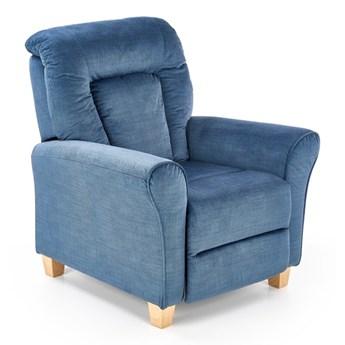 Fotel Bard Rozkładany niebieski
