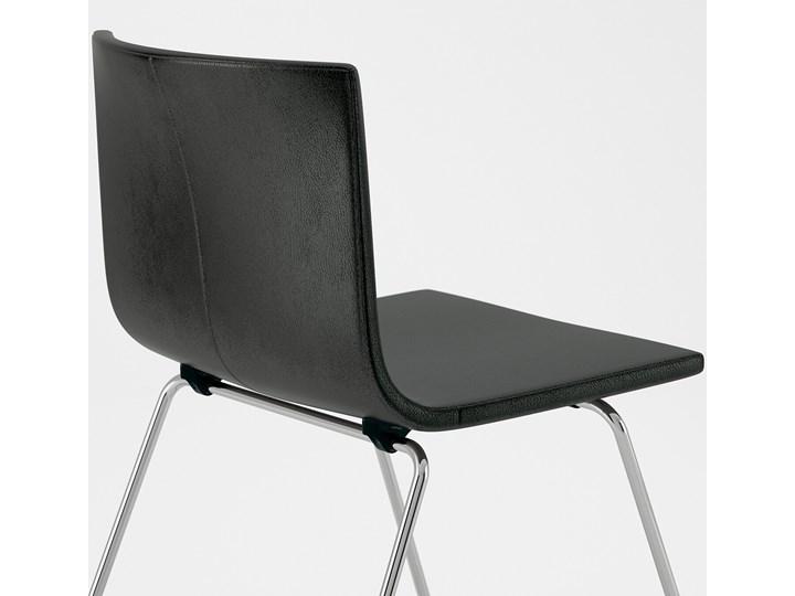 BERNHARD Krzesło Szerokość 45 cm Kategoria Krzesła kuchenne Szerokość 50 cm Wysokość 77 cm Wysokość 48 cm Głębokość 50 cm Głębokość 40 cm Skóra Kolor Czarny