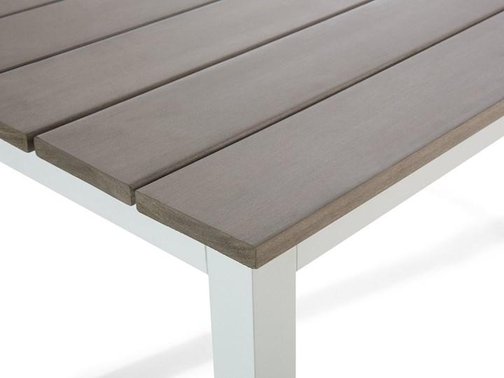Zestaw mebli ogrodowych 6-osobowy biały aluminium zielone poduszki narożnik pufa stół stolik Tworzywo sztuczne Zestawy wypoczynkowe Zestawy modułowe Styl Nowoczesny