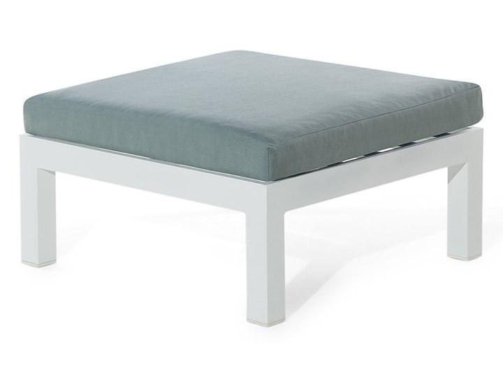 Zestaw mebli ogrodowych 6-osobowy biały aluminium zielone poduszki narożnik pufa stół stolik Zestawy modułowe Zestawy wypoczynkowe Tworzywo sztuczne Liczba miejsc Pięcioosobowy Styl Nowoczesny
