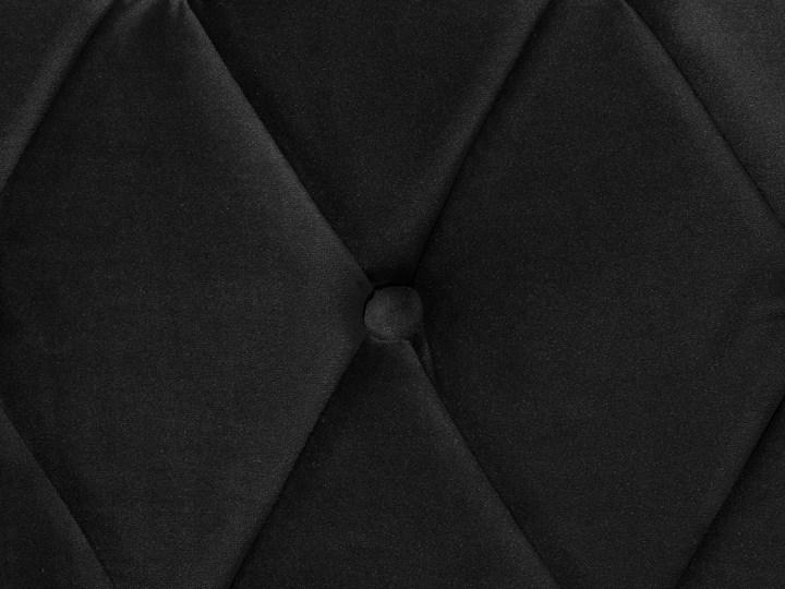 Łóżko ze stelażem czarne welurowe 160 x 200 cm z zagłówkiem pikowane styl glamour Kolor Czarny Łóżko tapicerowane Kategoria Łóżka do sypialni