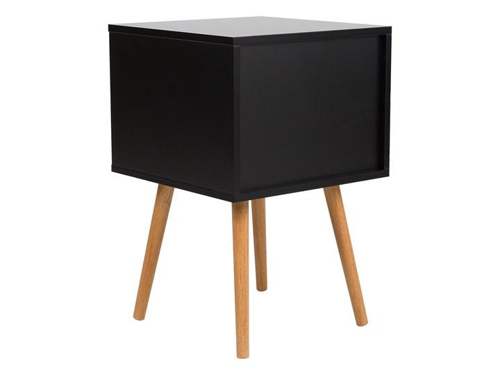 BELIANI Stolik nocny czarny 2 szuflady ALABAMA Płyta MDF Drewno Kolor Beżowy Styl Minimalistyczny