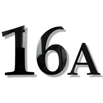 Cyfry na dom numer domu 30cm alu czarny połysk