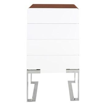Elegancka biała szafka wysoki połysk 55 x 40 x 115 cm D-836