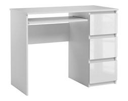 Biurko Heini komputerowe kolor Biały Połysk