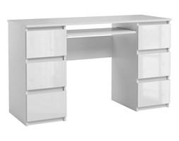 Biurko Jaris komputerowe 6 szuflad Biały Połysk
