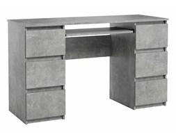 Biurko Jaris komputerowe 6 szuflad Beton