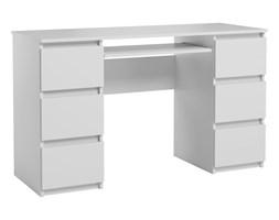 Biurko Jaris komputerowe 6 szuflad Biały Mat