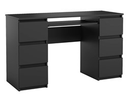 Biurko Jaris komputerowe 6 szuflad Czarny Mat
