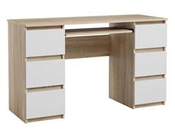 Biurko Jaris komputerowe 6 szuflad Sonoma Biały Mat