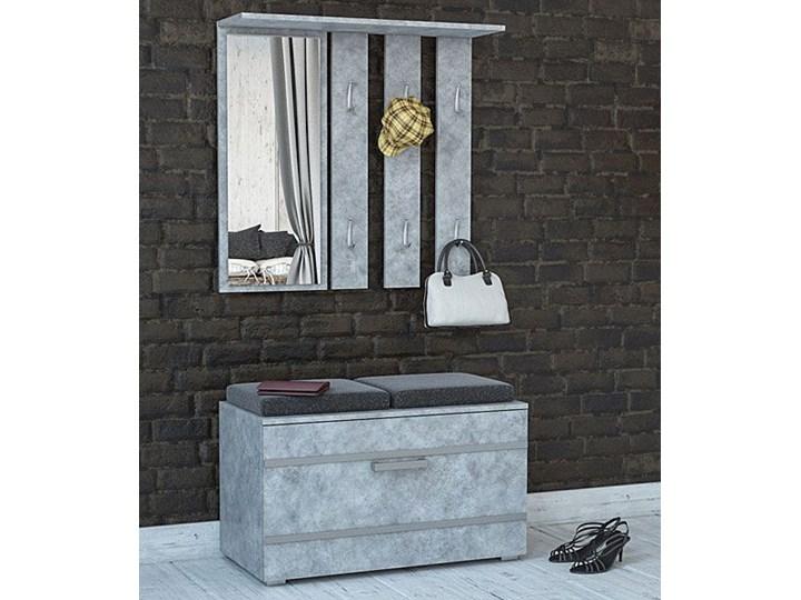 Garderoba z szafką na buty Malea - beton Kategoria Zestawy mebli do sypialni Kolor Szary