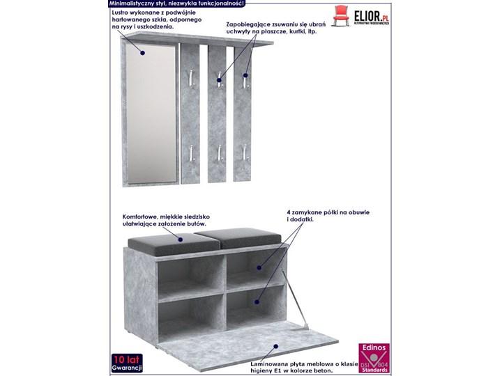 Garderoba z szafką na buty Malea - beton Kategoria Zestawy mebli do sypialni