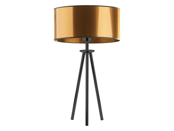 Lampka nocna do salonu na stolik ALTA MIRROR Lampa nocna Wysokość 50 cm Lampa z abażurem Lampa trójnóg Wysokość 15 cm Kolor Beżowy