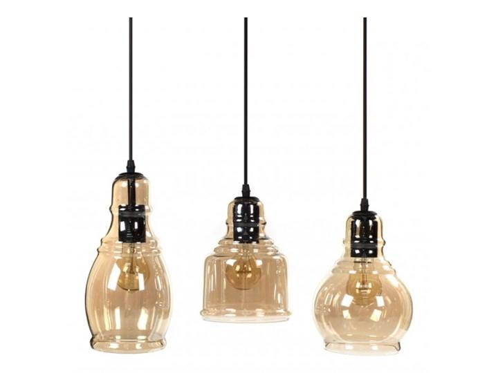 Lampa wisząca LOUISVILLE 3 11122 Lumenq 11122 | SPRAWDŹ RABAT W KOSZYKU ! Szkło Lampa z kloszem Kolor Beżowy Styl Industrialny