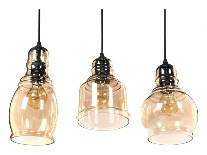 Lampa wisząca LOUISVILLE 3 11122 Lumenq 11122 | SPRAWDŹ RABAT W KOSZYKU ! Lampa z kloszem Szkło Kolor Czarny