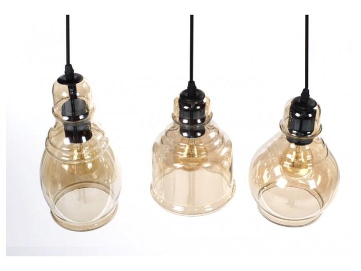 Lampa wisząca LOUISVILLE 3 11122 Lumenq 11122 | SPRAWDŹ RABAT W KOSZYKU ! Lampa z kloszem Szkło Kolor Beżowy Kolor Czarny