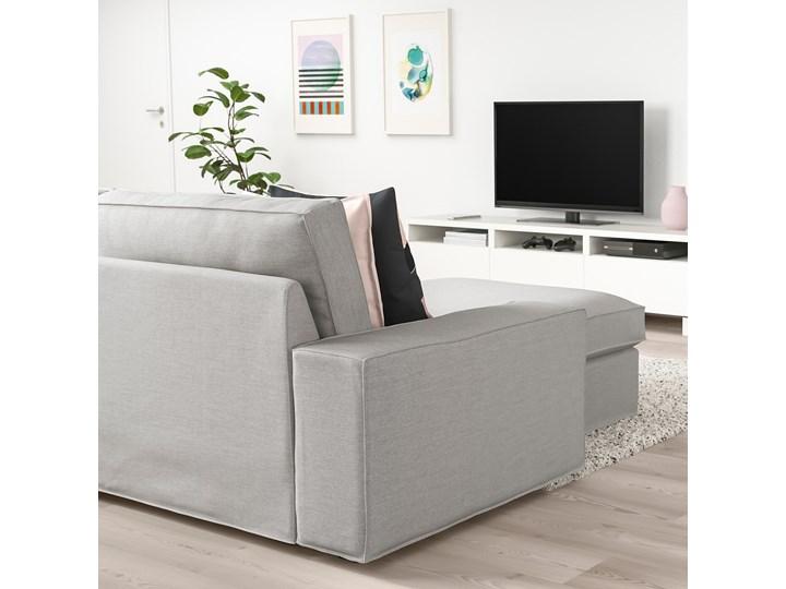 KIVIK Sofa 4-osobowa Wysokość 45 cm Szerokość 318 cm Stała konstrukcja Wysokość 83 cm W kształcie L Kolor Szary