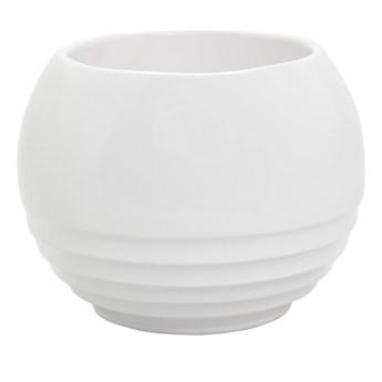 Doniczka ceramiczna GoodHome ozdobna 14 cm biała