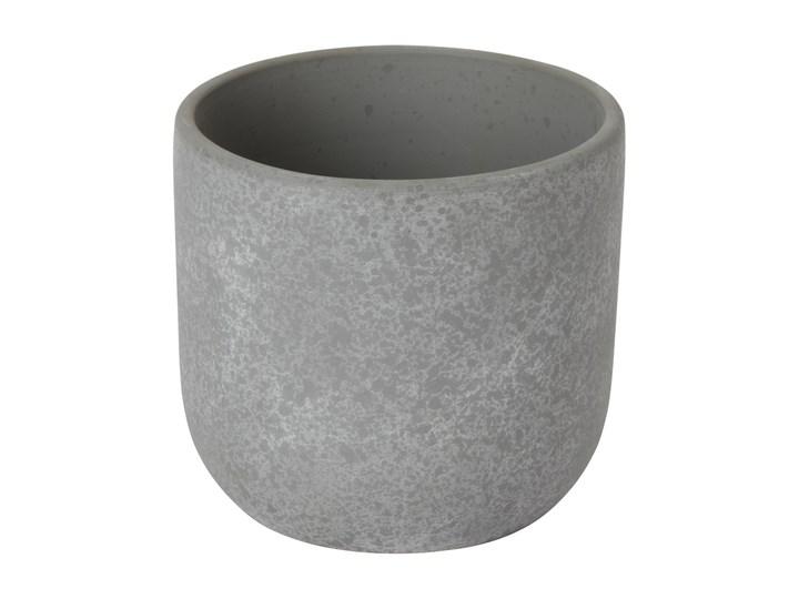 Doniczka ceramiczna GoodHome ozdobna 9 cm speckle Ceramika Kategoria Doniczki i kwietniki Doniczka na kwiaty Kolor Szary