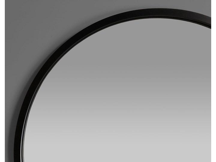 Lustro Scandi – okrągłe w czarnej ramie Ścienne Lustro z ramą Styl Nowoczesny