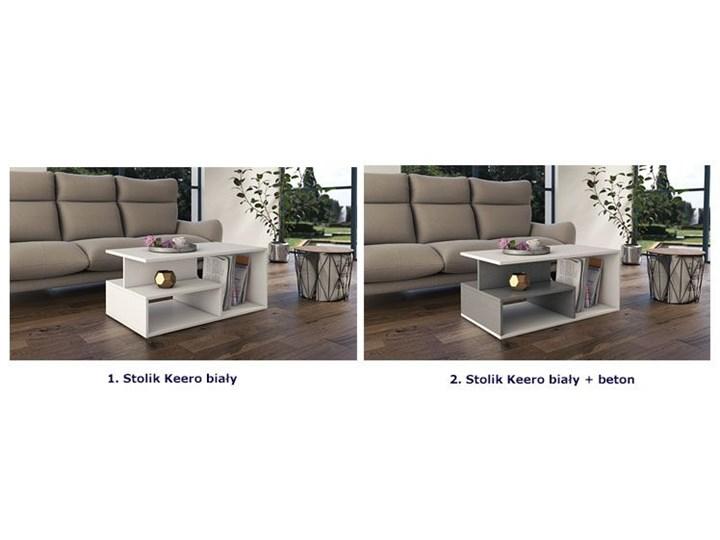 Nowoczesny stolik kawowy Keero - biały Wysokość 43 cm Kategoria Stoliki i ławy