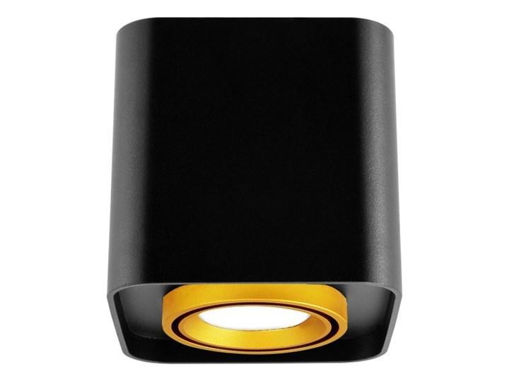 Oprawa natynkowa Polux Eger kwadratowa czarno-złota Kolor Złoty Kwadratowe Oprawa stropowa Kolor Czarny