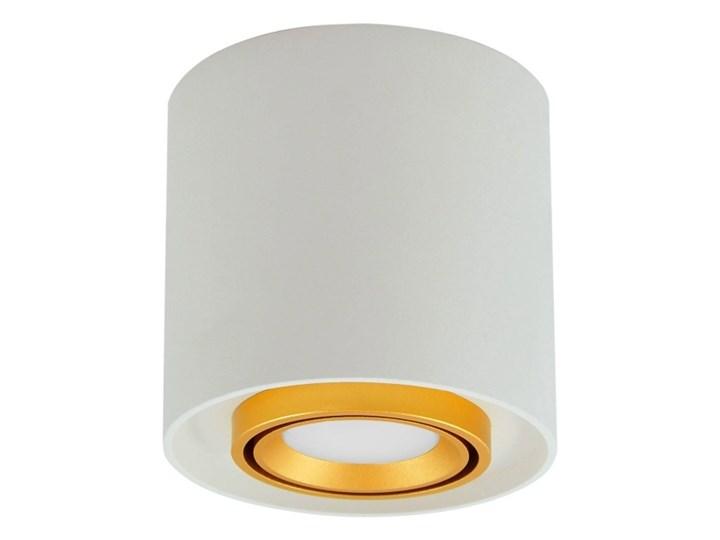 Oprawa natynkowa Polux Eger okrągła GU10 biało-złota Okrągłe Oprawa stropowa Kolor Biały