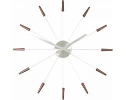 NeXtime Simple Times - Zegar ścienny - Plug Inn - brązowy