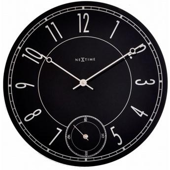 NeXtime Simple Times - Zegar ścienny - Leitbring - czarny - 8144
