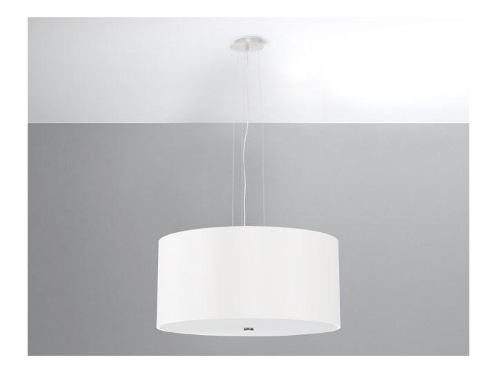 Delikatna Oprawa Lampa Wisząca Żyrandol OTTO 50 Biały Pojedynczy Zwis Abażur Tworzywo Sztuczne Nowoczesny Styl Loft Industrial Oświetlenie Żarówka E27
