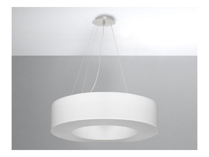 Oryginalna Oprawa Sufitowa Żyrandol SATURNO 70 Biały Abażur Tworzywo Sztuczne Lampa Wisząca Okrągły Zwis Nowoczesny Styl Loft Industrial Oświetlenie