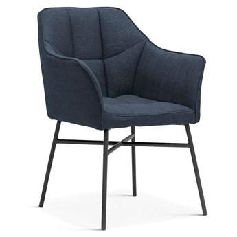 Krzesło MIN grafitowo niebieski