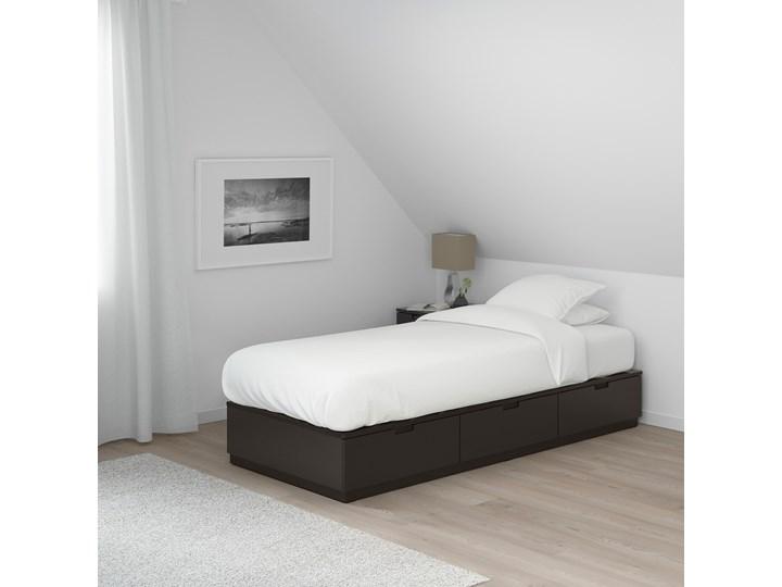 NORDLI Rama łóżka z szufladami Kategoria Łóżka do sypialni Łóżko drewniane Kolor Czarny