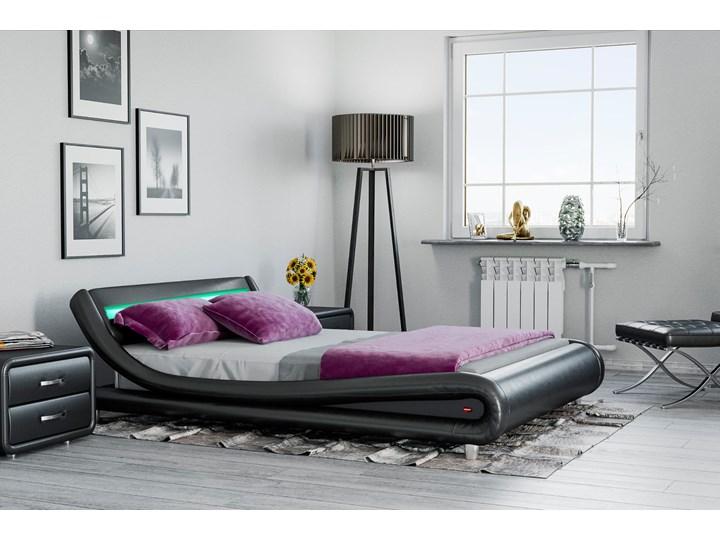 ŁÓŻKO TAPICEROWANE DO SYPIALNI 120x200 114 LED CZARNE Kategoria Łóżka do sypialni