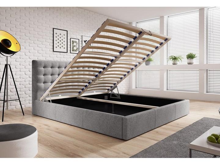 Nowoczesne łóżko do sypialni z pojemnikiem VERO / kolory do wyboru Drewno Tkanina Metal Rozmiar materaca 160x200 cm