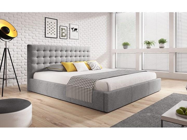 Nowoczesne łóżko do sypialni z pojemnikiem VERO / kolory do wyboru Metal Tkanina Drewno Styl Nowoczesny