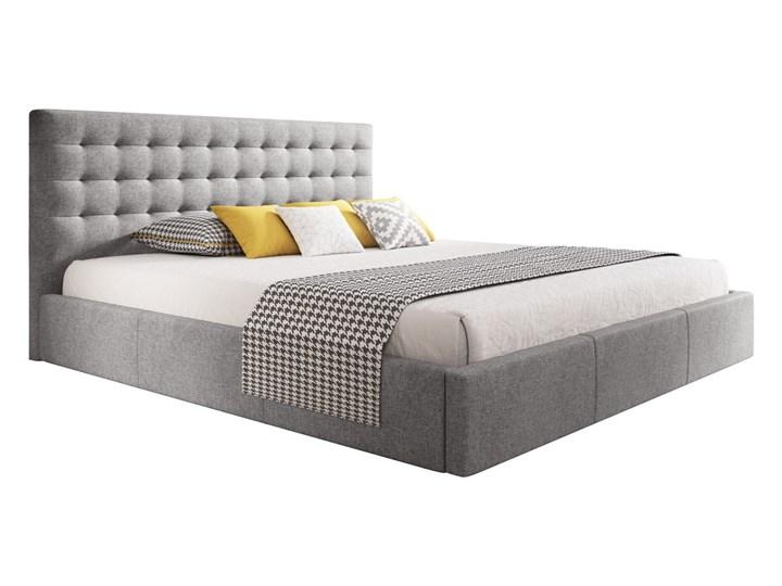 Nowoczesne łóżko do sypialni z pojemnikiem VERO / kolory do wyboru Drewno Tkanina Zagłówek Z zagłówkiem Metal Rozmiar materaca 160x200 cm