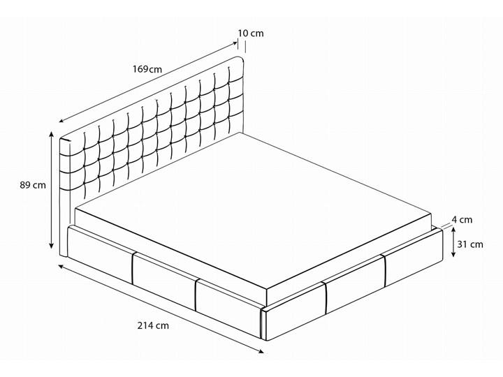 Nowoczesne łóżko do sypialni z pojemnikiem VERO / kolory do wyboru Tkanina Drewno Styl Nowoczesny Metal Zagłówek Z zagłówkiem